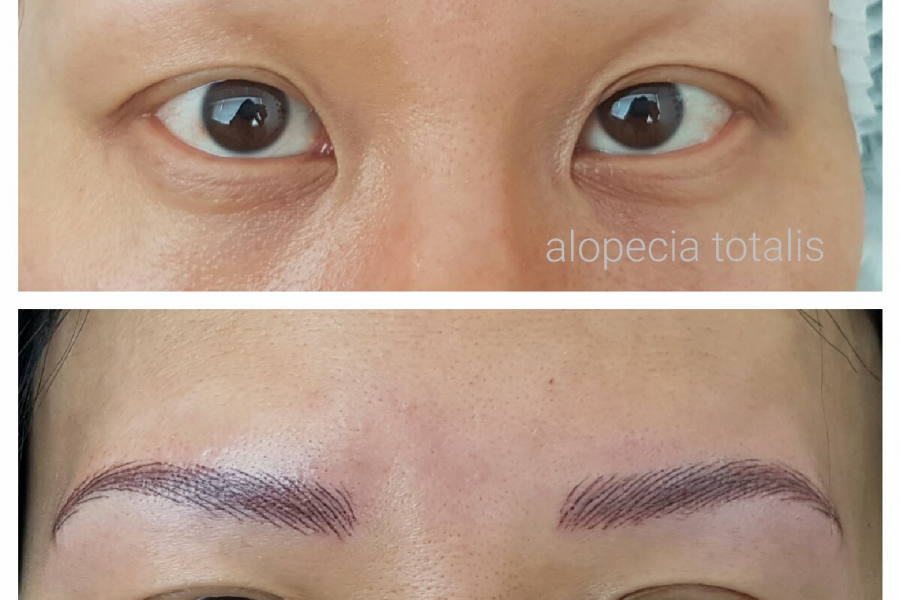 alopecia areata permanente make-up wenkbrauw maken