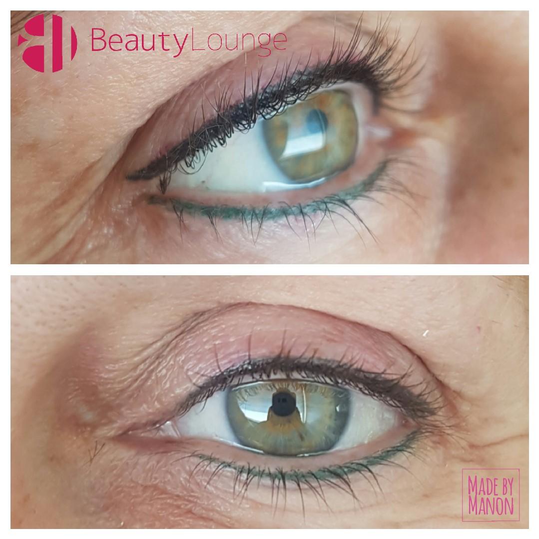 eyeliner permanent tattoo haarlem foto voor en na