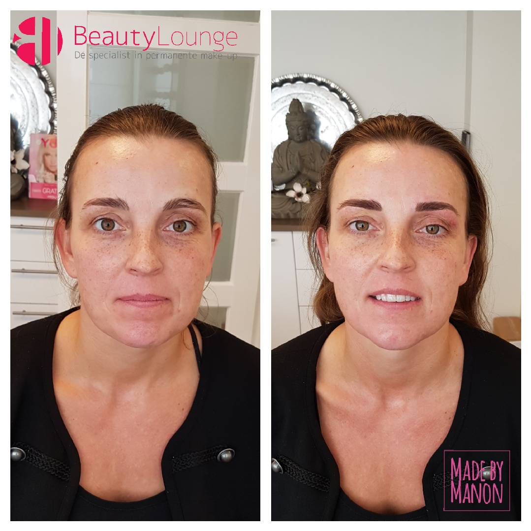 volle wenkbrauw natuurlijk echte met permanente haarlemse make-up