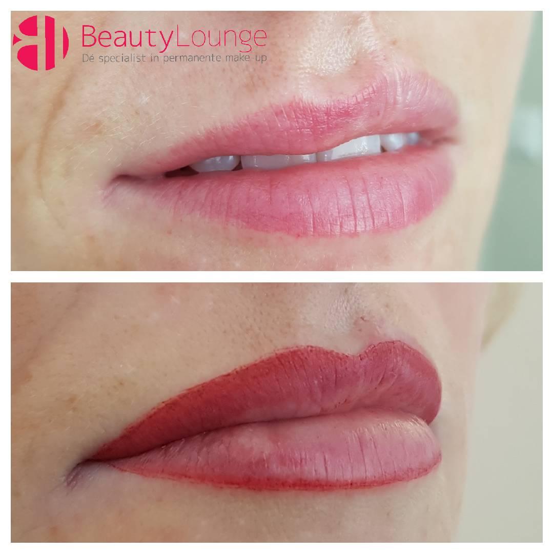 foto lippen voor en na permanent make up holland